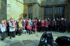 The choir assembled ready for action